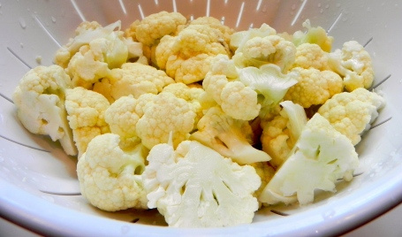 Bite-sized (ok large bite-sized) cauliflower pieces